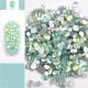 Stikliniai WHITE OPAL akmenukai 100vnt. MIX dydžiai