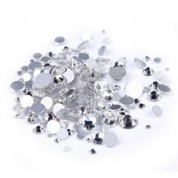 Stikliniai skaidrūs akmenukai  CRYSTAL 100vnt.