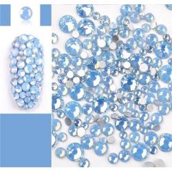Glass rhinestones BLUE OPAL 100pcs