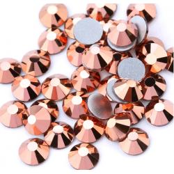 Glass rhinestones Rose Gold 100pcs