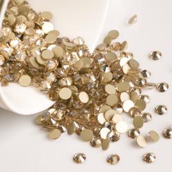 Glass rhinestones GOLDEN SHADOW 100pcs