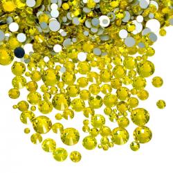 Glass rhinestones CITRINE 100pcs.