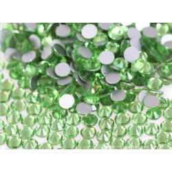 Glass rhinestones PERIDOT 100pcs