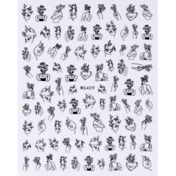 Nail stickers WG409