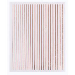 Nail stripes Rose Gold