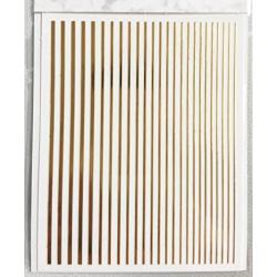 Nail stripes Gold