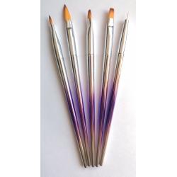 Nail brush set BLING 5pcs