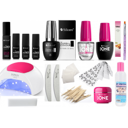 Gel polish and nail extension set with 48W hybrid lamp