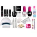 Gel polish and nail extension sets